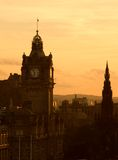 Vista di Edinburgh al crepuscolo Immagini Stock Libere da Diritti