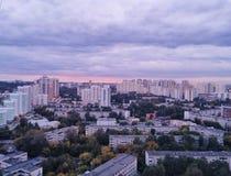 Vista di Ekaterinburg dal tetto fotografie stock libere da diritti