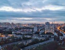 Vista di Ekaterinburg dall'alto tetto immagini stock