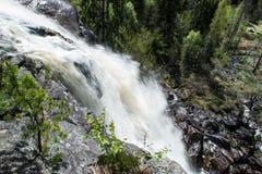 Vista di Elgaafossen (cascata di Elga) da goccia Immagine Stock