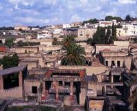 Vista di Ercolano, Italia. fotografia stock libera da diritti