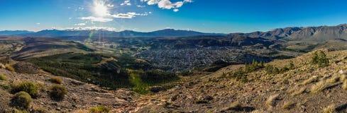 Vista di Esquel, Argentina Fotografia Stock