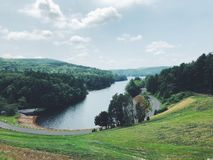 Vista di estate dalla diga di Saville immagini stock libere da diritti