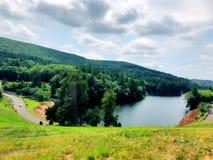 Vista di estate dalla diga di Saville fotografia stock