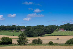 Vista di estate del Regno Unito del terreno coltivabile Fotografia Stock Libera da Diritti