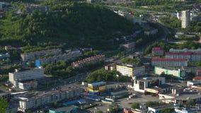Vista di estate della città di Petropavlovsk Kamchatsky archivi video