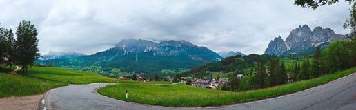 Vista di estate della montagna delle dolomia Fotografia Stock Libera da Diritti