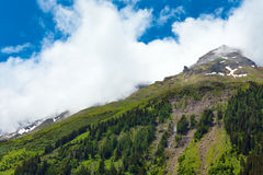 Vista di estate delle alpi Fotografie Stock Libere da Diritti