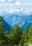 Vista di estate delle alpi Fotografia Stock