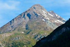 Vista di estate delle alpi Immagine Stock