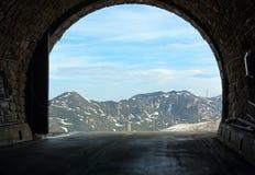 Vista di estate delle alpi dal traforo di Hochtor Immagine Stock