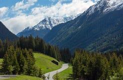 Vista di estate delle alpi di Silvretta, Austria Fotografie Stock