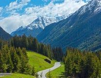 Vista di estate delle alpi di Silvretta, Austria Fotografia Stock Libera da Diritti