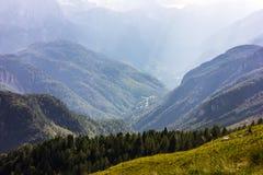 Vista di estate delle montagne delle alpi dal picco di Mangart, Slovenia Fotografia Stock Libera da Diritti