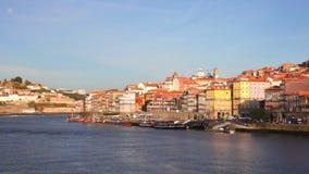 Vista di estate su Oporto, Portogallo stock footage