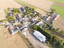 Vista di Estouches, l'Essonne, Ile de France fotografia stock