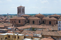 Vista di Ferrara. L'Emilia Romagna. L'Italia. Fotografia Stock Libera da Diritti