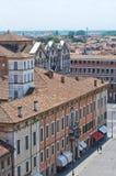 Vista di Ferrara. L'Emilia Romagna. L'Italia. Immagini Stock Libere da Diritti