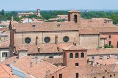 Vista di Ferrara. L'Emilia Romagna. L'Italia. Fotografie Stock