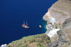 Vista di Fira Santorini fotografie stock libere da diritti