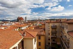 Vista di Firenze alla cattedrale di Santa Maria del Fiore La Cattedrale di Santa Maria del Fiore, Tusc Fotografia Stock Libera da Diritti