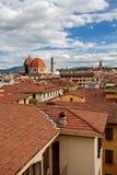 Vista di Firenze alla cattedrale di Santa Maria del Fiore La Cattedrale di Santa Maria del Fiore, Tusc Fotografie Stock Libere da Diritti