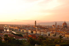Vista di Firenze da Piazzale Michelangelo Immagine Stock Libera da Diritti
