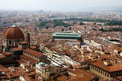 Vista di Firenze dalla cupola Immagini Stock