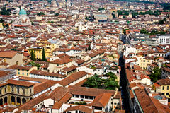 Vista di Firenze dalla cupola Fotografia Stock Libera da Diritti