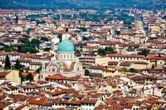 Vista di Firenze dalla cupola Fotografie Stock Libere da Diritti
