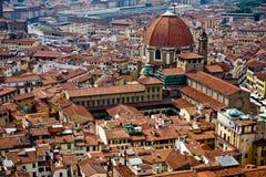 Vista di Firenze dalla cupola Fotografie Stock