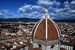 Vista di Firenze e del Duomo Fotografia Stock Libera da Diritti
