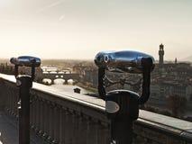 Vista di Firenze e del ponticello di Ponte Vecchio Immagini Stock Libere da Diritti