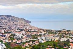 Vista di Funchal in primavera, il Madera Fotografia Stock Libera da Diritti