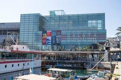 Vista di Galata, museo del mare Museo del Mare, a Genova, l'Italia fotografie stock libere da diritti