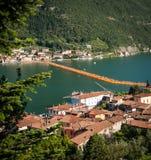 Vista di galleggiamento del quadrato dell'angolo alto di Piers Sulzano Fotografia Stock