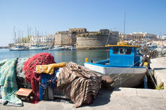 Vista di Gallipoli Città Vecchia Fotografia Stock Libera da Diritti