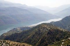 Vista di Ganga Fotografie Stock