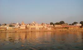 Vista di Ganga a Varanasi Fotografia Stock Libera da Diritti