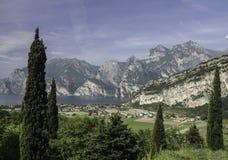 Vista di Garda del lago Fotografia Stock Libera da Diritti