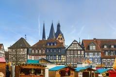 Vista di Gelnhausen, Germania fotografie stock