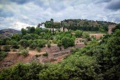 Vista di Generalife e dei giardini Immagini Stock Libere da Diritti