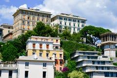 Vista di Genova fotografia stock