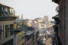 Vista di Genova immagine stock