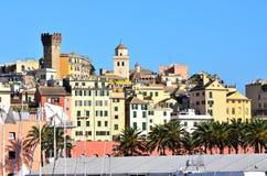 Vista di Genova fotografia stock libera da diritti