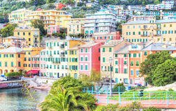 Vista di Genova Nervi fotografie stock