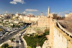 Vista di Gerusalemme Fotografie Stock Libere da Diritti