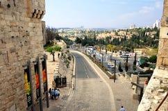 Vista di Gerusalemme dal portone di Giaffa Immagini Stock