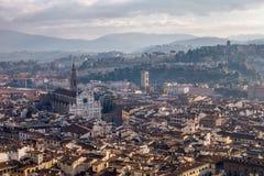 Vista di giorno aerea di Firenze Fotografia Stock Libera da Diritti