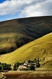 Vista di giorno del villaggio di Bamei alla provincia di Yunnan Cina fotografia stock libera da diritti